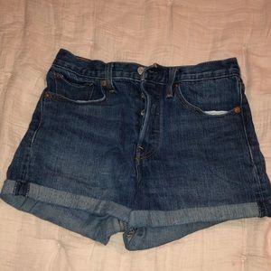 Levi's White Oak denim shorts